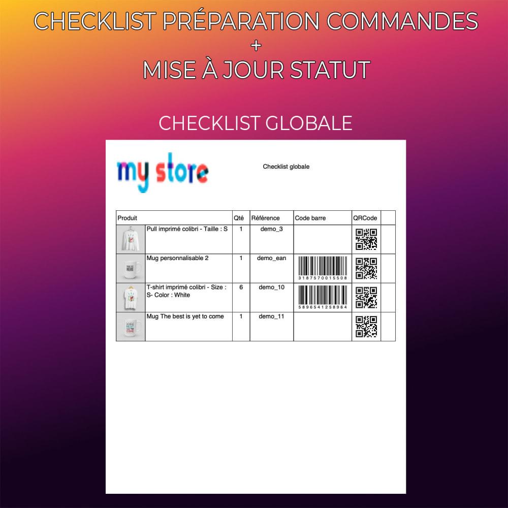 module - Gestion des Commandes - Checklist préparation commandes + Mise à jour statut - 4