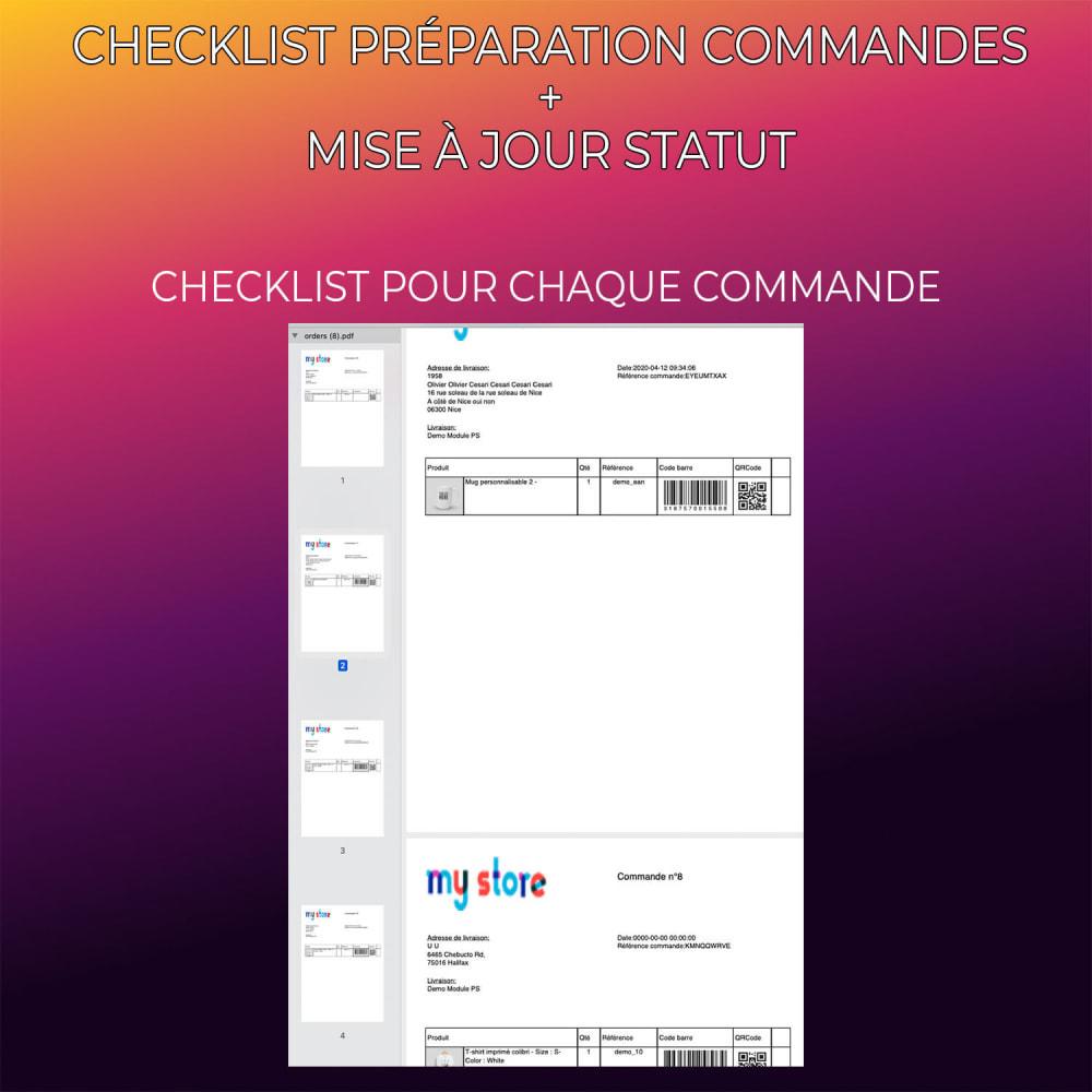 module - Gestion des Commandes - Checklist préparation commandes + Mise à jour statut - 5