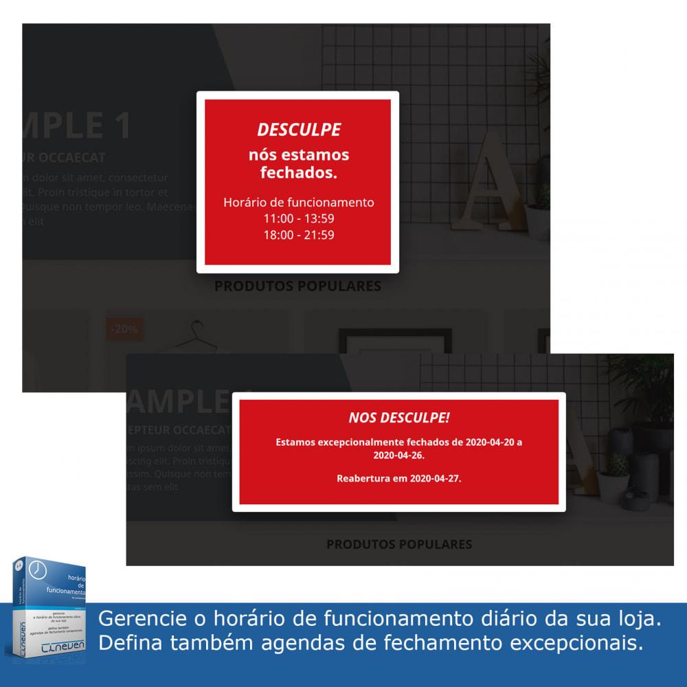 module - Ferramentas de Administração - Horário de funcionamento e fechamentos excepcionais - 2
