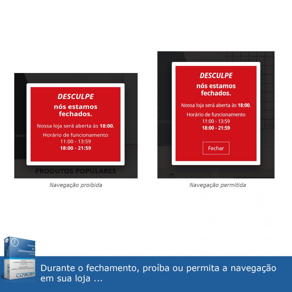 module - Ferramentas de Administração - Horário de funcionamento e fechamentos excepcionais - 6
