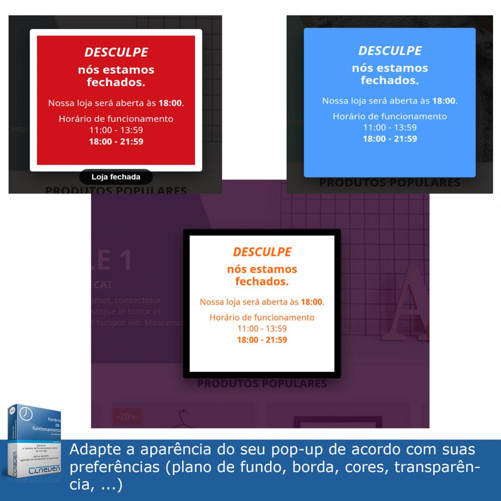 module - Ferramentas de Administração - Horário de funcionamento e fechamentos excepcionais - 8