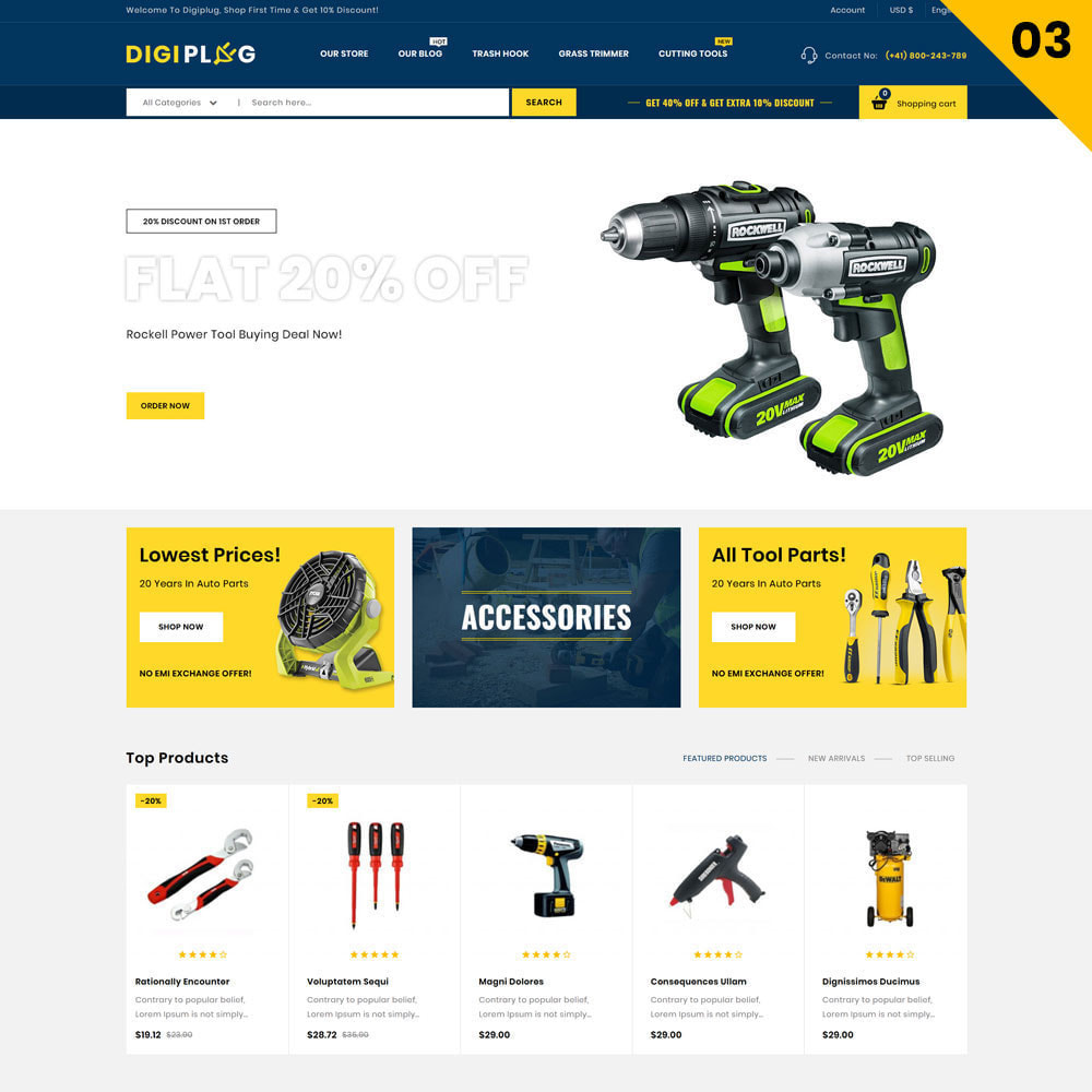 theme - Elektronik & High Tech - Digiplug - The Electronic Shop - 5