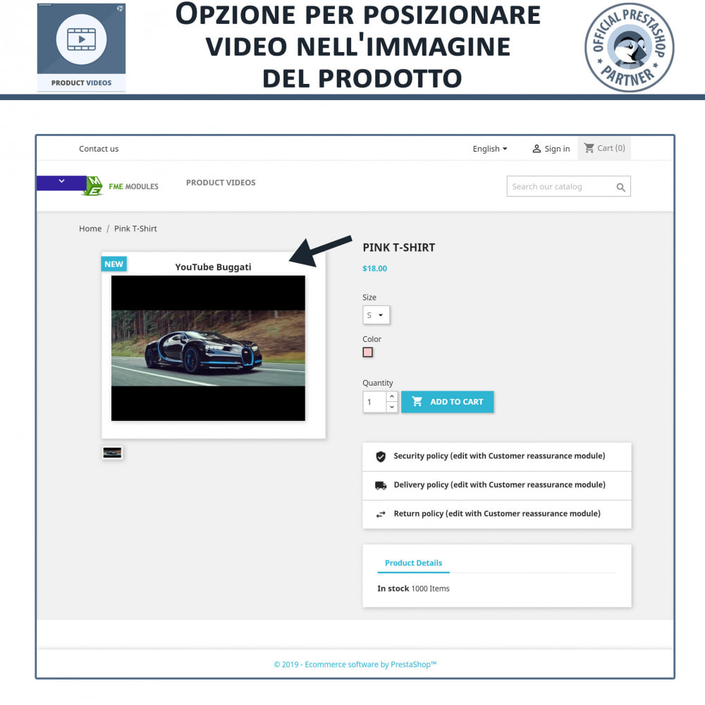 module - Video & Musica - Product Videos - Upload or Embed YouTube, Vimeo - 3