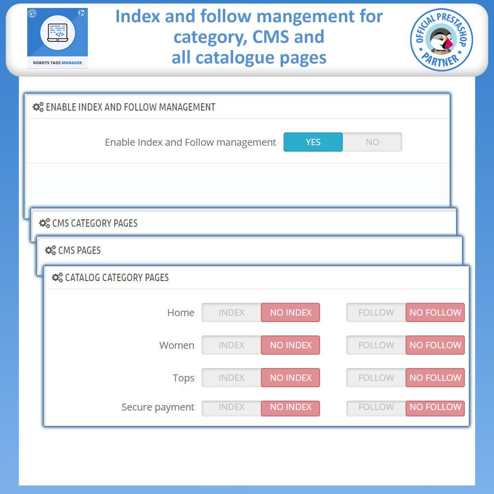 module - SEO (Referenciamento natural) - Meta Robot Tags - NoFollow NoIndex Manager - 2
