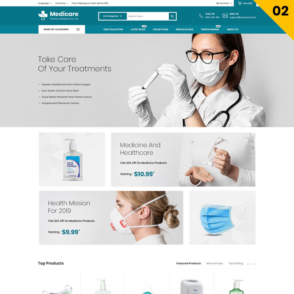 theme - Salute & Bellezza - Medicare - The Medical Store - 5