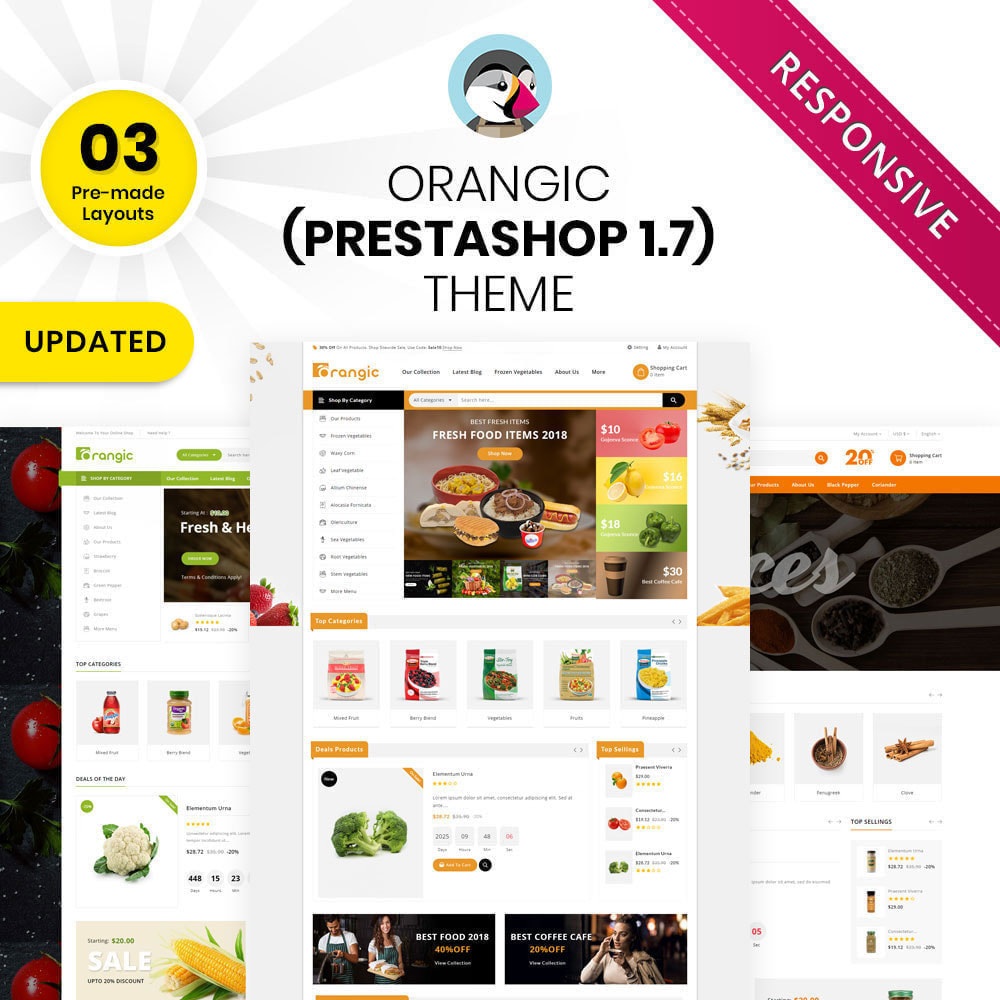 theme - Eten & Restaurant - Orangic - The Food Store - 1