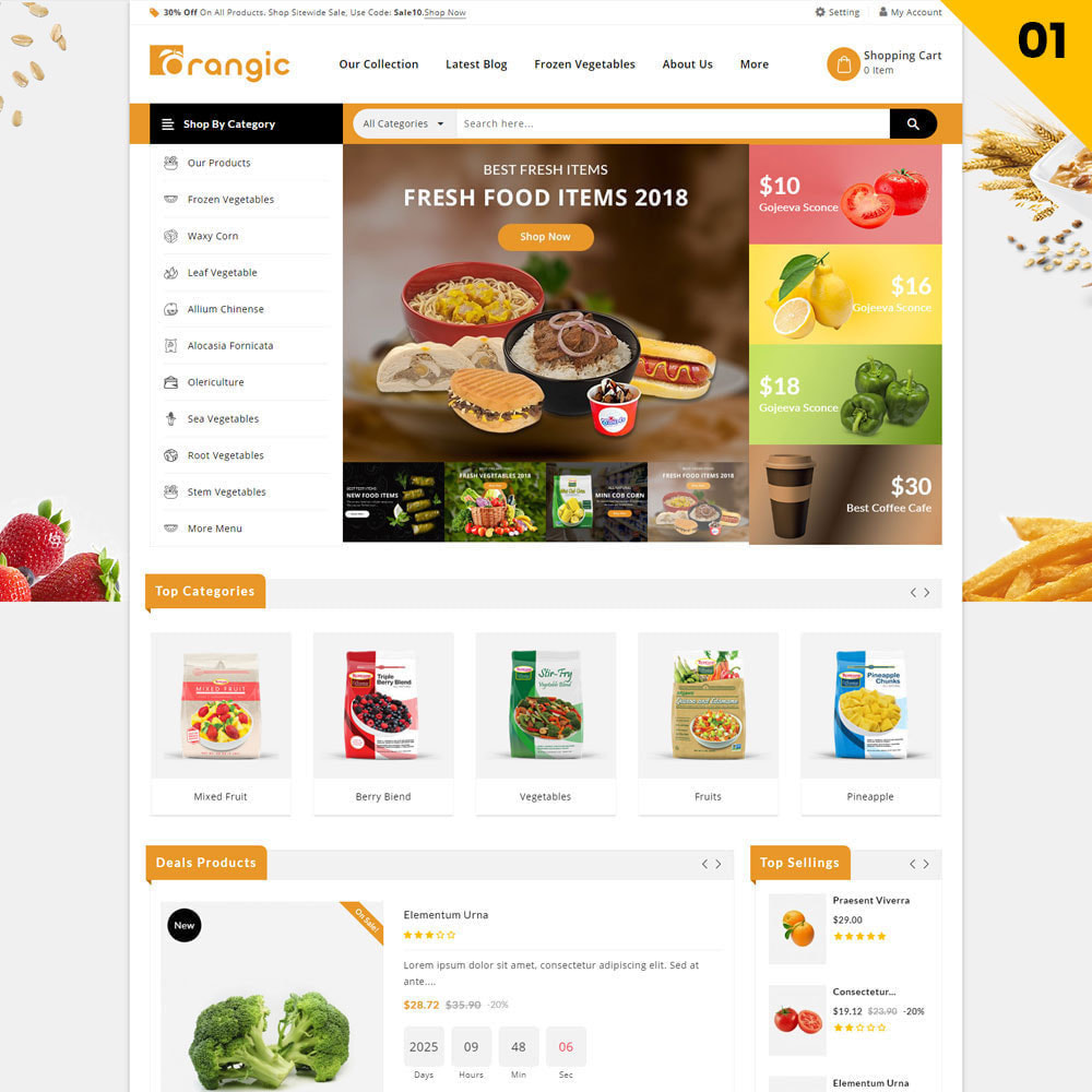 theme - Eten & Restaurant - Orangic - The Food Store - 3