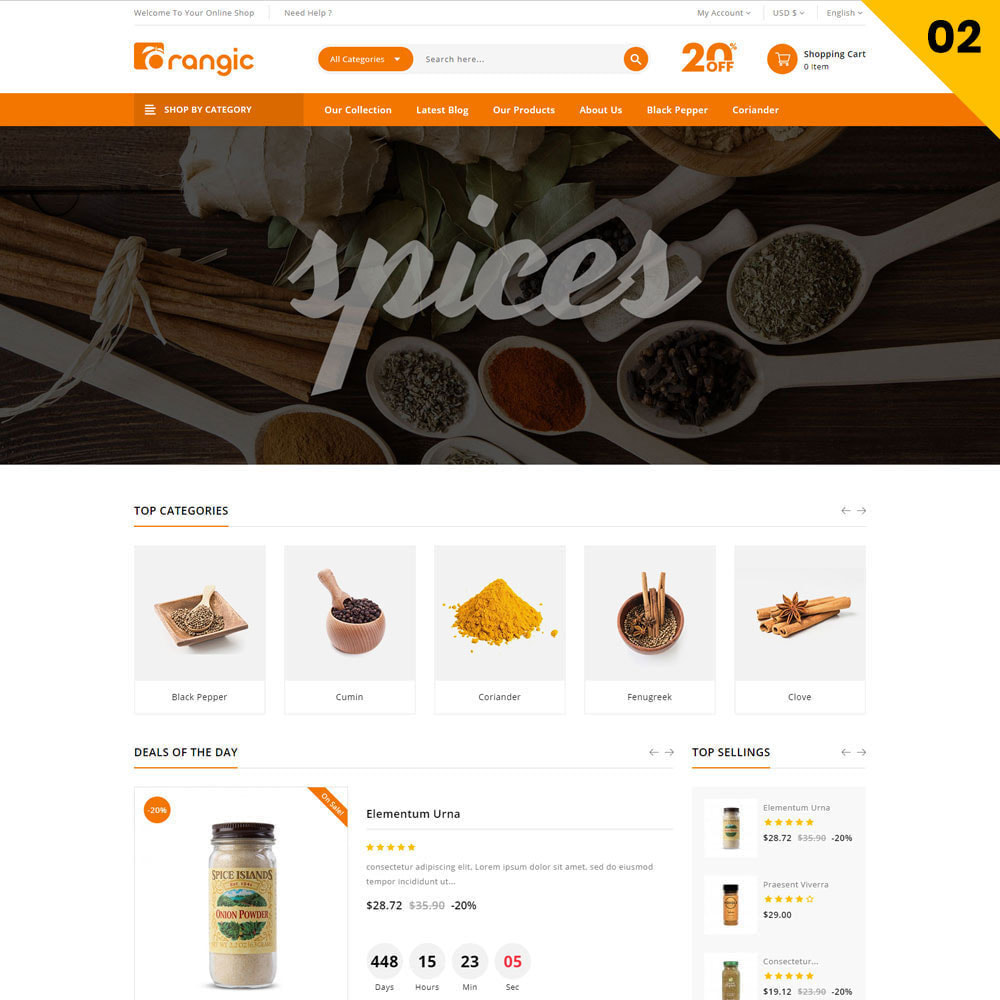 theme - Eten & Restaurant - Orangic - The Food Store - 4