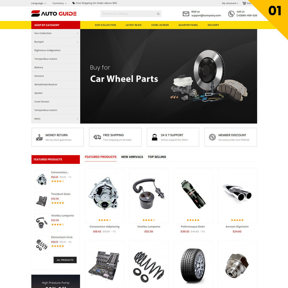 theme - Automotive & Cars - Autoguide - The Mega Motor Store - 3