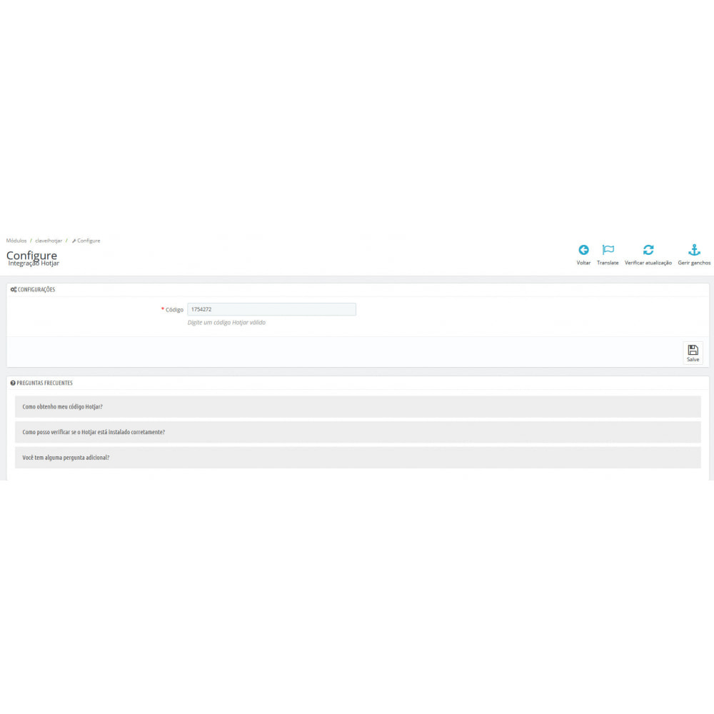 module - Análises & Estatísticas - Integração Hotjar - 2