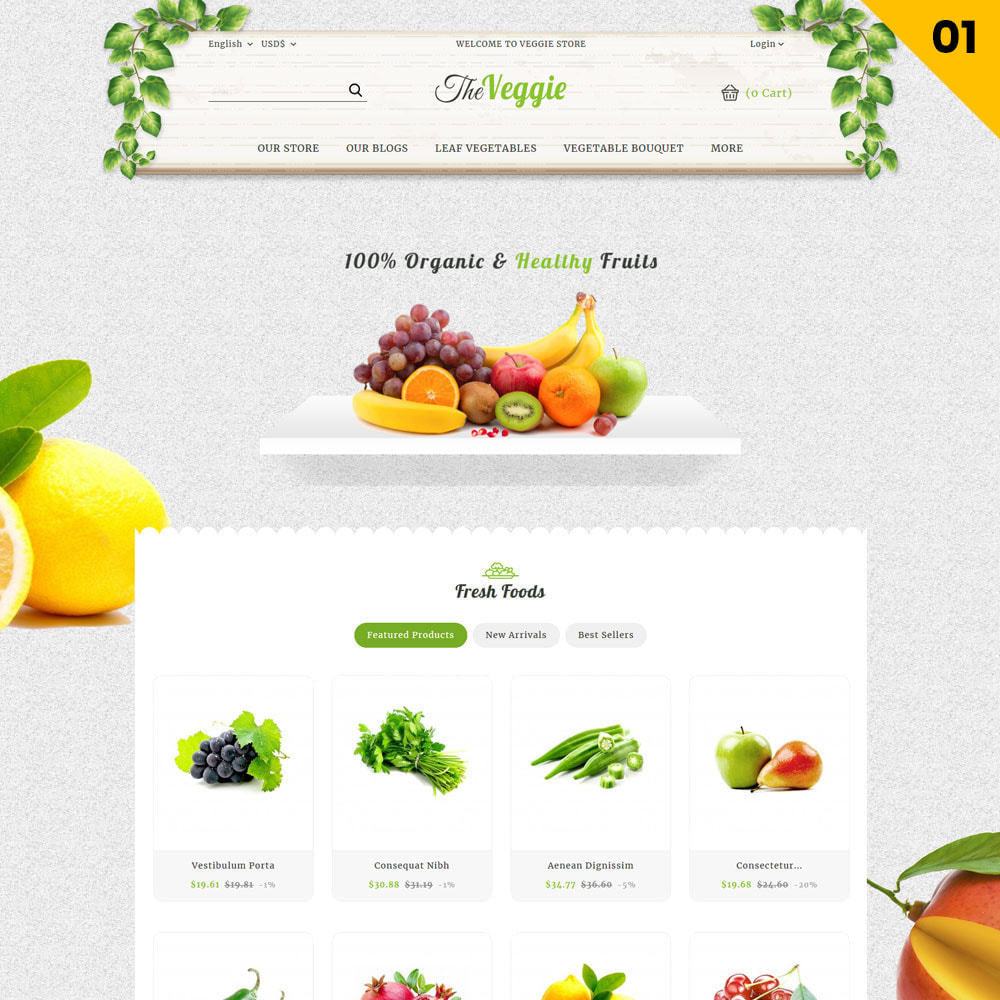 theme - Eten & Restaurant - Veggie  - The Organic Store - 3