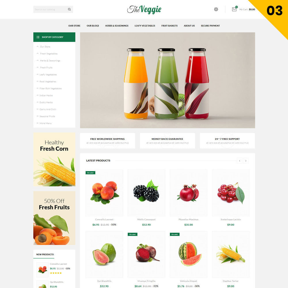 theme - Alimentation & Restauration - Veggie - Le magasin bio - 6