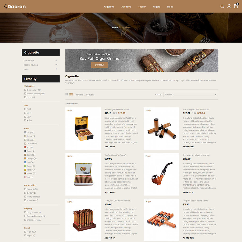 theme - Drink & Tobacco - Cigar - Drink, Alcohol, Liquor, Whisky, Tobacco store - 4