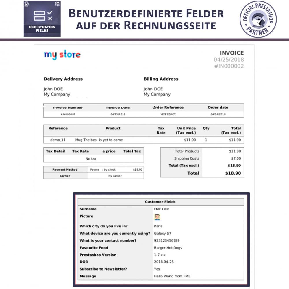 module - Anmeldung und Bestellvorgang - Registrierung Felder, Fügen Sie Kundenattribute - 6