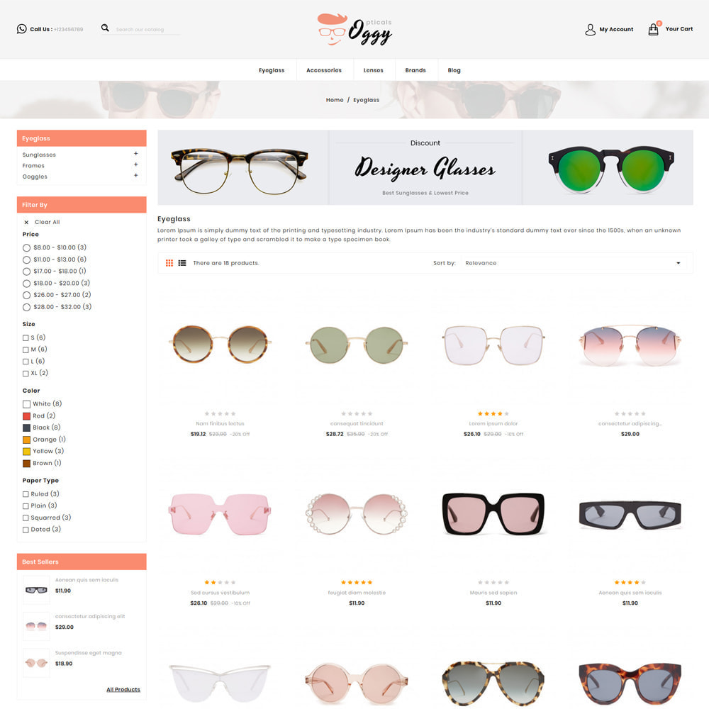 theme - Jewelry & Accessories - Oggy - Opticals Shop - 3
