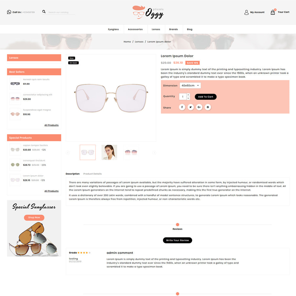 theme - Bellezza & Gioielli - Oggy - Opticals Shop - 4