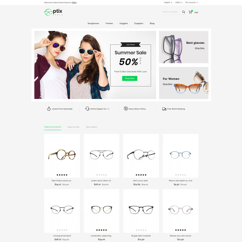 theme - Jewelry & Accessories - Optix - Optical Shop - 2