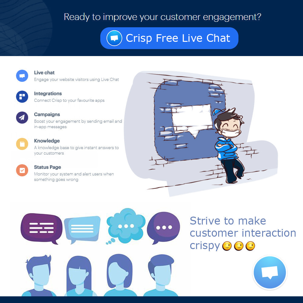 module - Support & Online Chat - Crisp Free Live Chat - 1