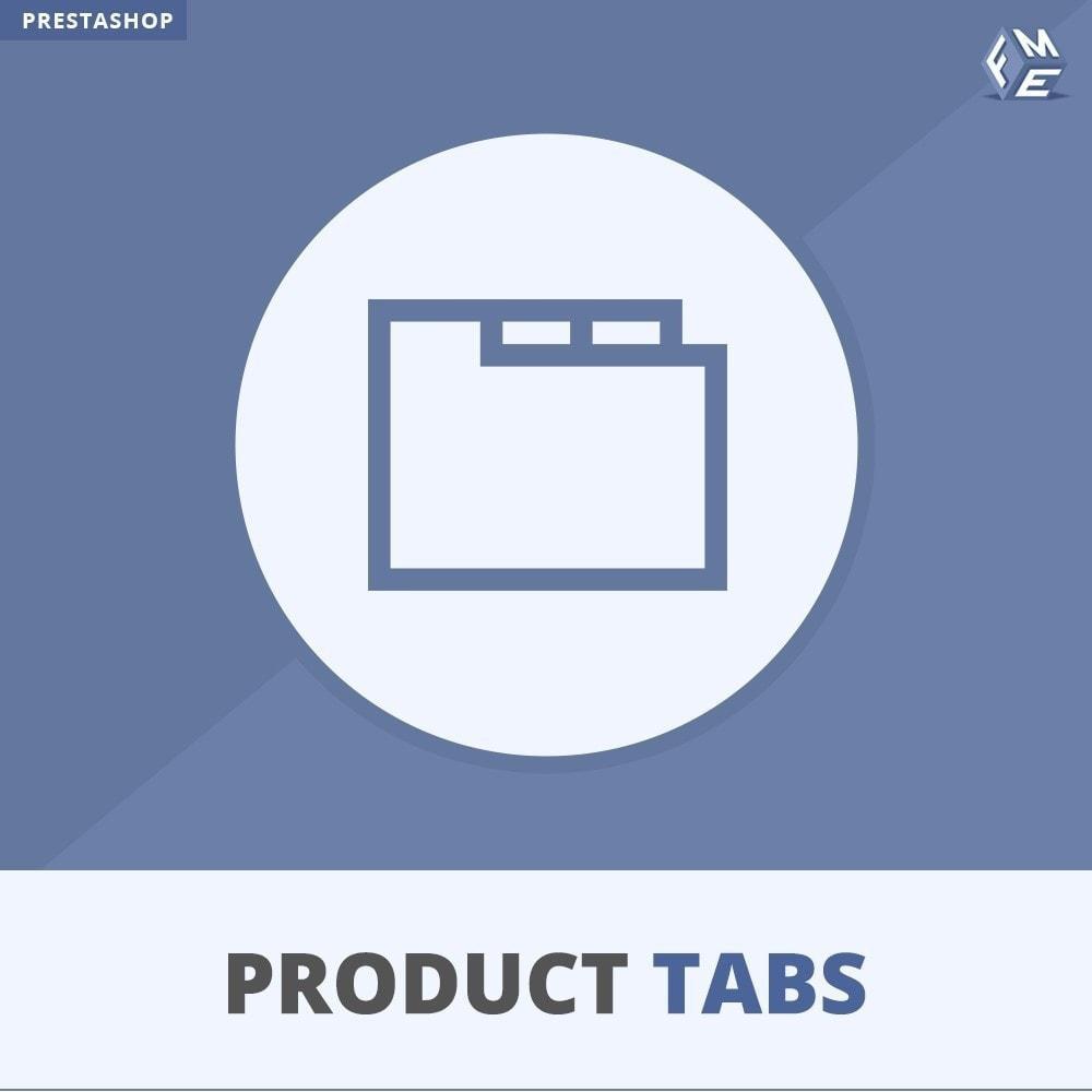 module - Informaciones adicionales y Pestañas - Módulo de Pestañas de Productos - 1