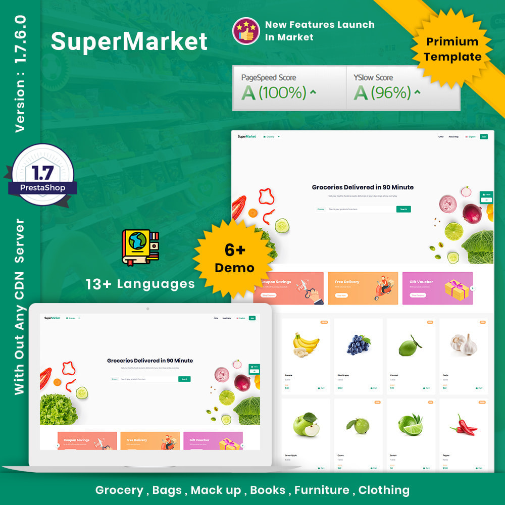 theme - Food & Restaurant - Super Market Store - 1