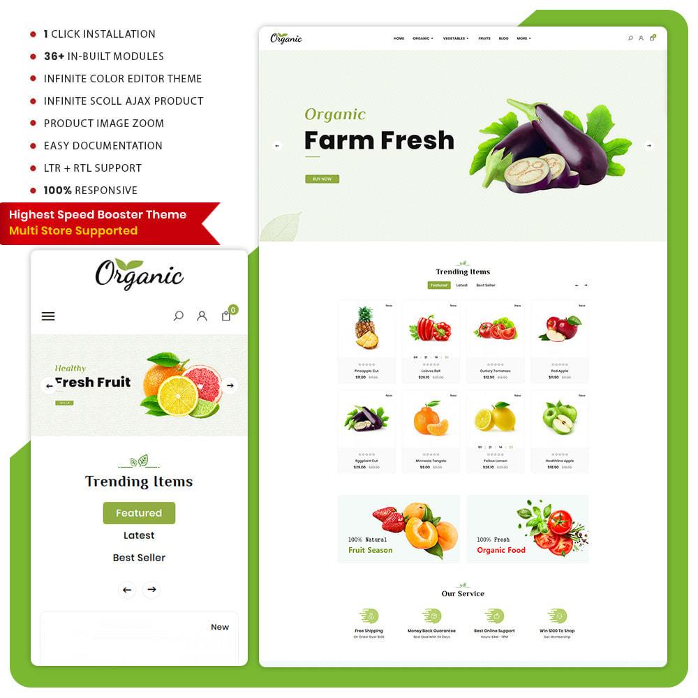 theme - Food & Restaurant - Biologisch -  Organic Fruit Super Store - 1