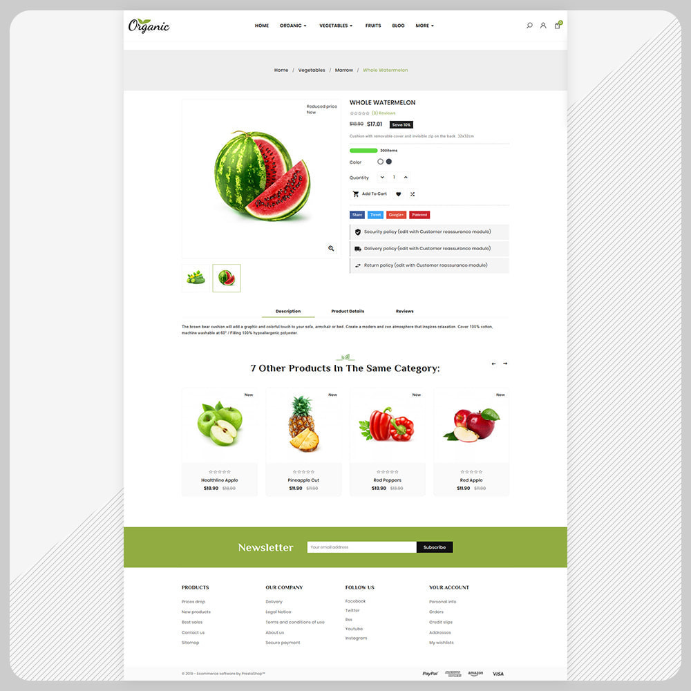 theme - Food & Restaurant - Biologisch -  Organic Fruit Super Store - 4