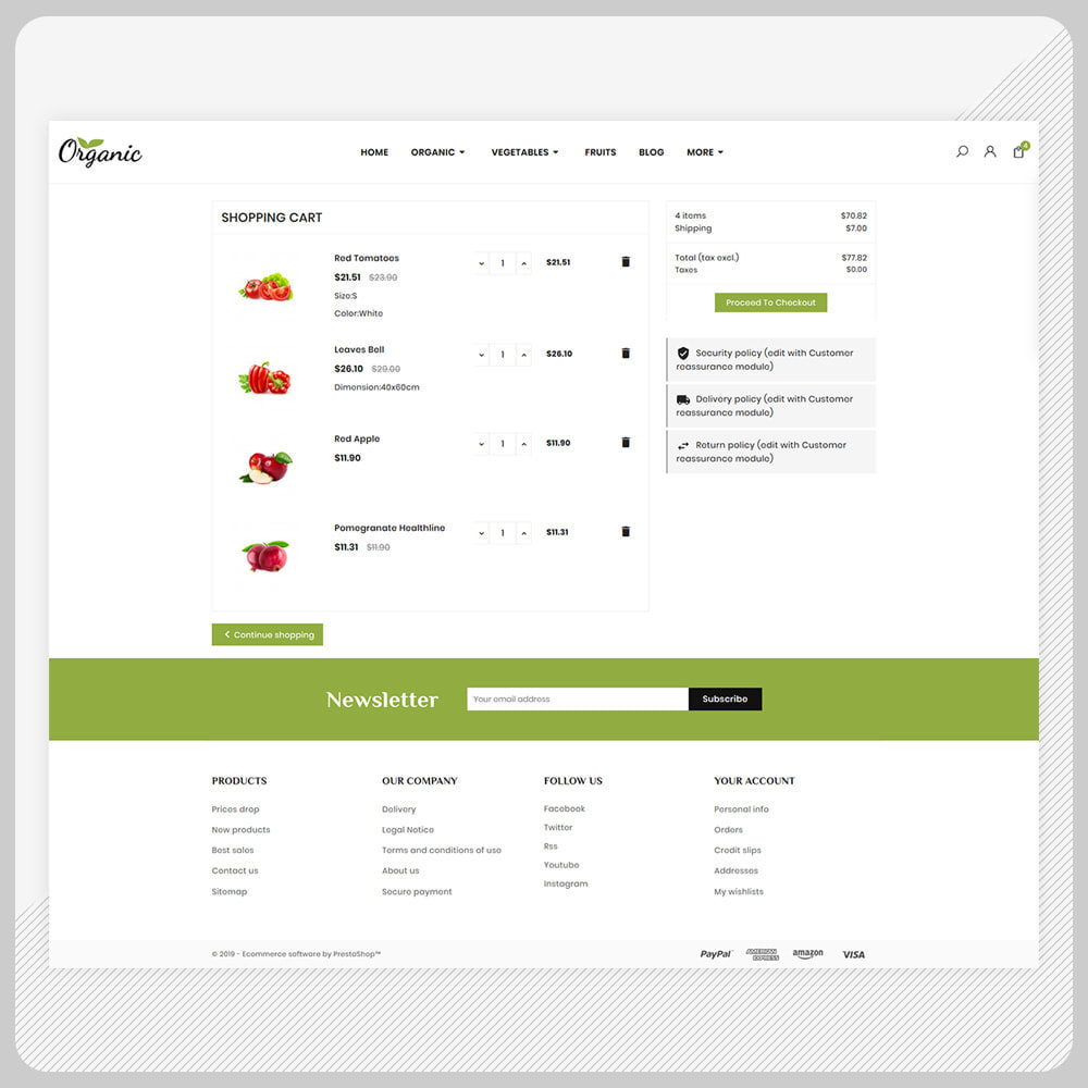 theme - Food & Restaurant - Biologisch -  Organic Fruit Super Store - 5