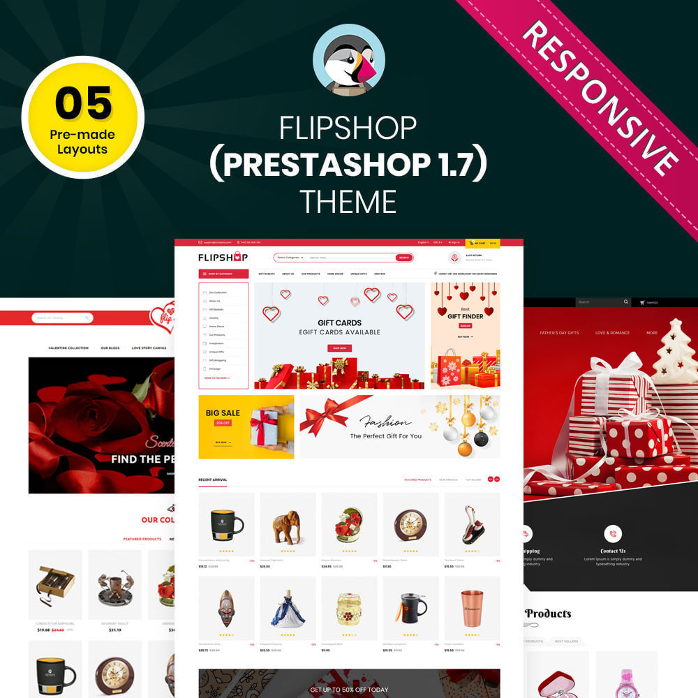 theme - Подарки, Цветы и праздничные товары - Flipshop - The Gift Store - 1