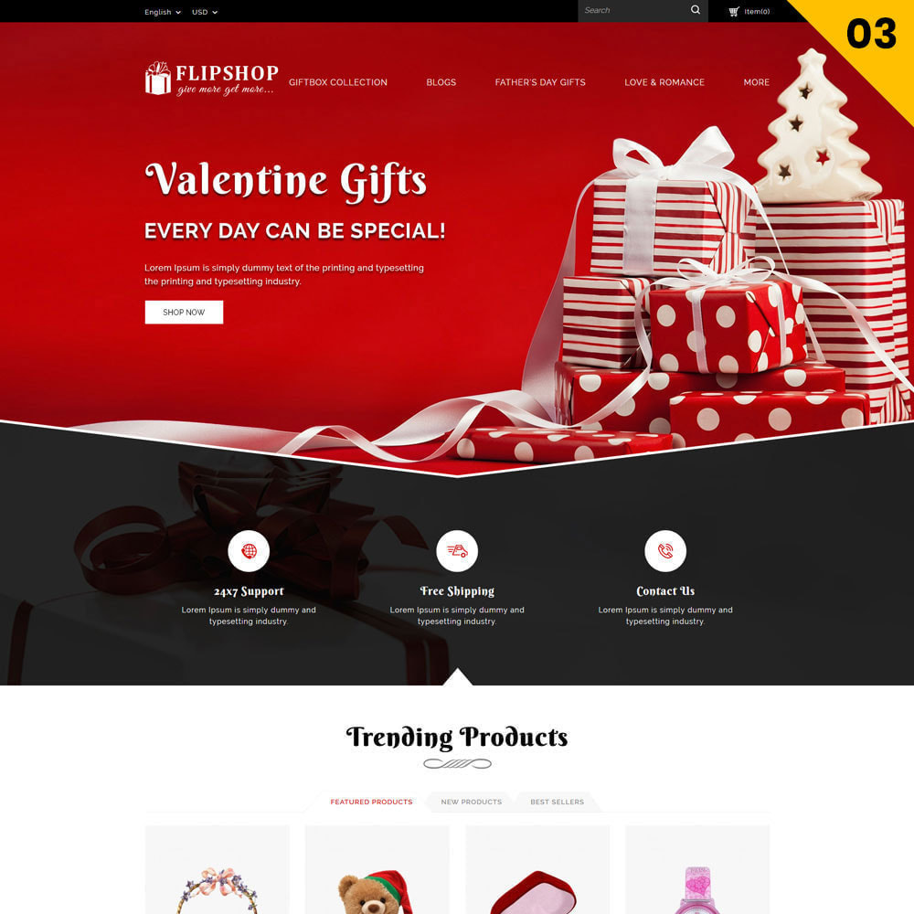 theme - Cadeaux, Fleurs et Fêtes - Flipshop - La boutique de cadeaux - 6