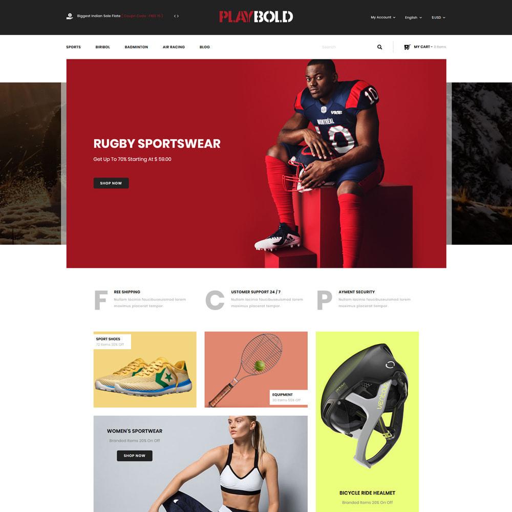 theme - Sports, Activities & Travel - Playbold - Sports Store - 2