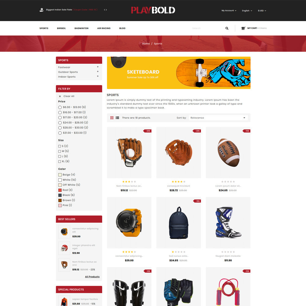 theme - Sports, Activities & Travel - Playbold - Sports Store - 3