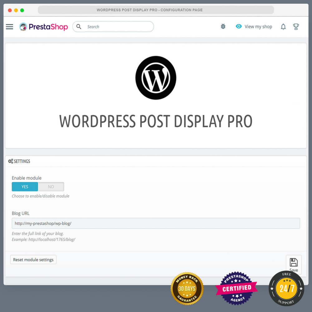 module - Blog, Forum & News - WordPress blog post display PRO - 2