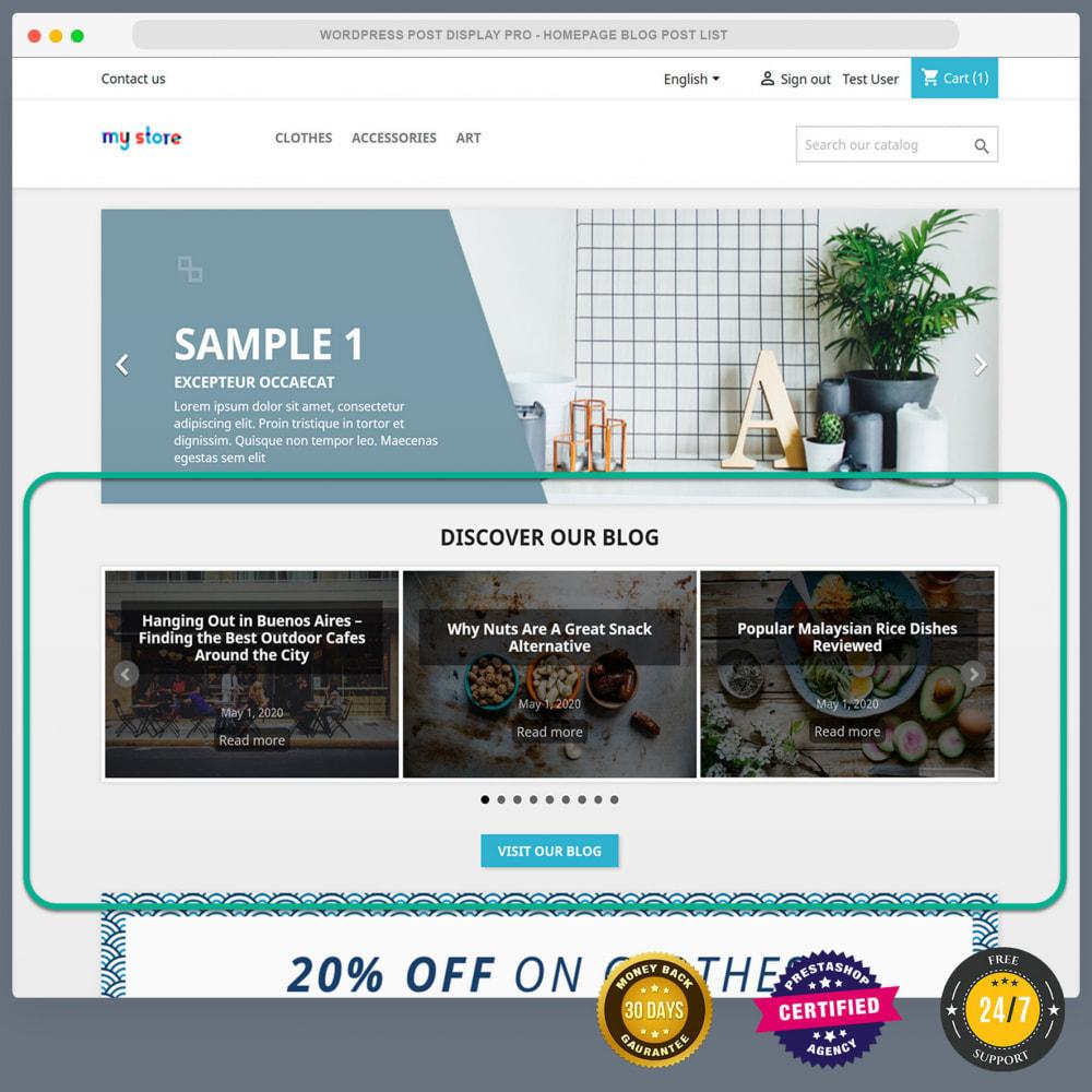 module - Blog, Forum & News - WordPress blog post display PRO - 6
