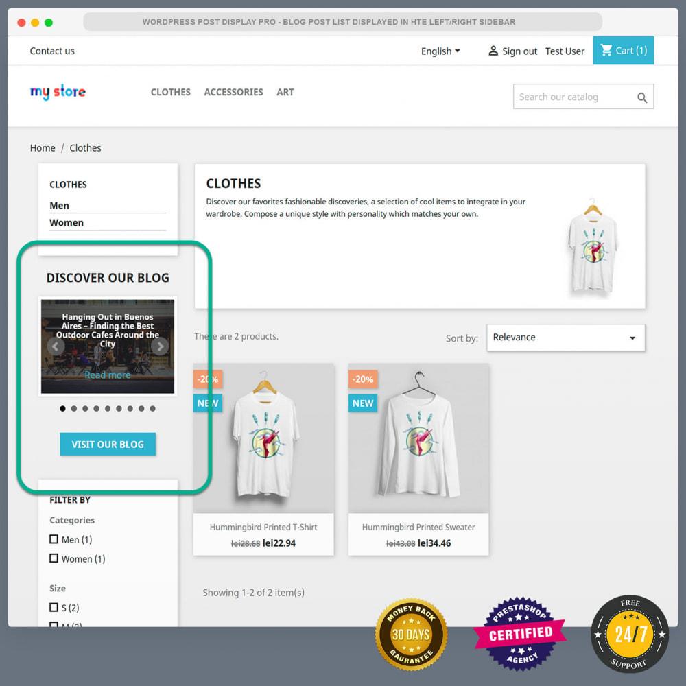 module - Blog, Forum & News - WordPress blog post display PRO - 8
