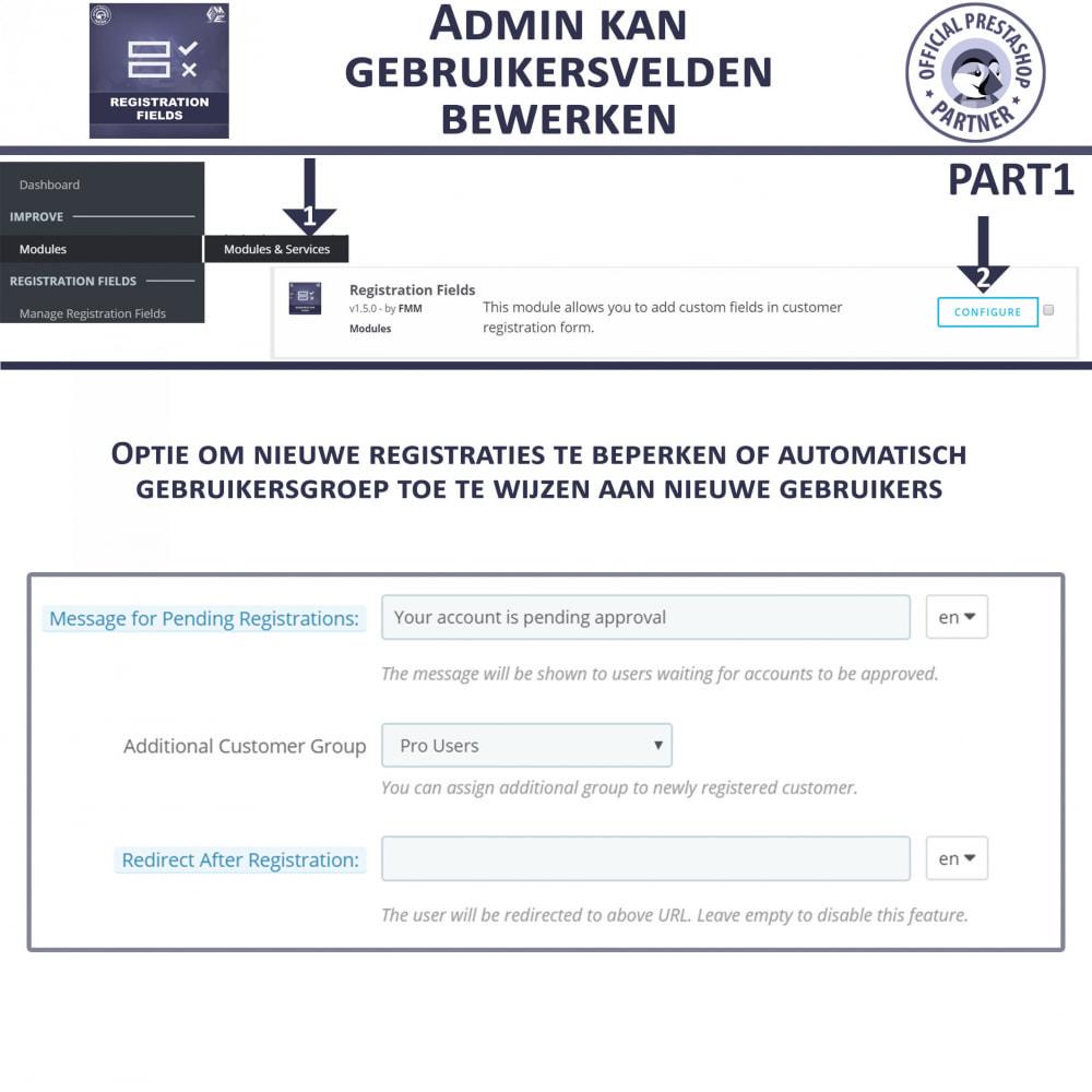 module - Registratie en Proces van bestellingen - Aangepaste Registratievelden-Validatie Van Registratie - 8