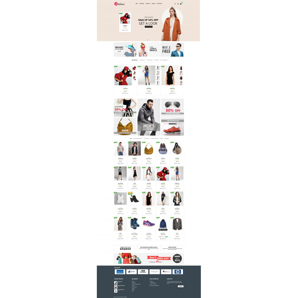 theme - Moda & Calçados - Atelier Fashion Multipurpose HTML5 - 6
