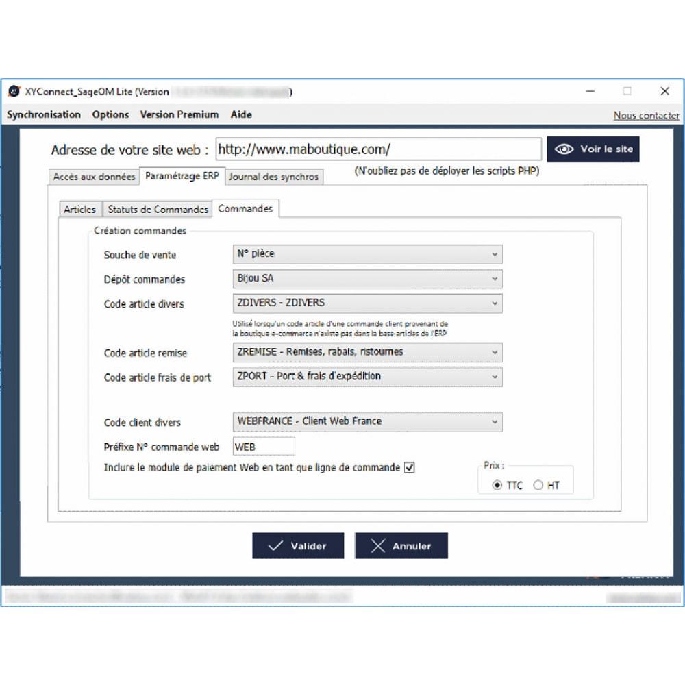 module - Connexion à un logiciel tiers (CRM, ERP...) - XY-Connect Lite - Sage 100 Gestion Commerciale - 5