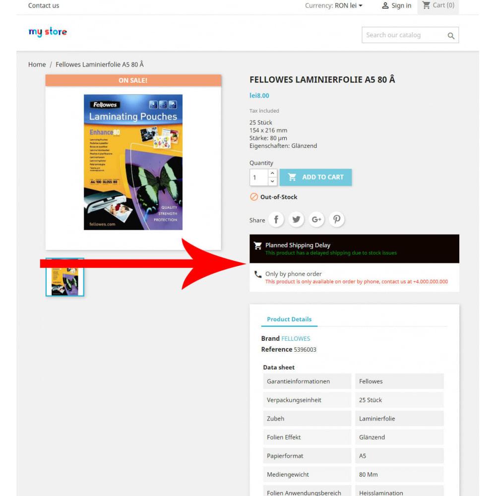 module - Sendungsverfolgung - Easy Product Information & Status - 1