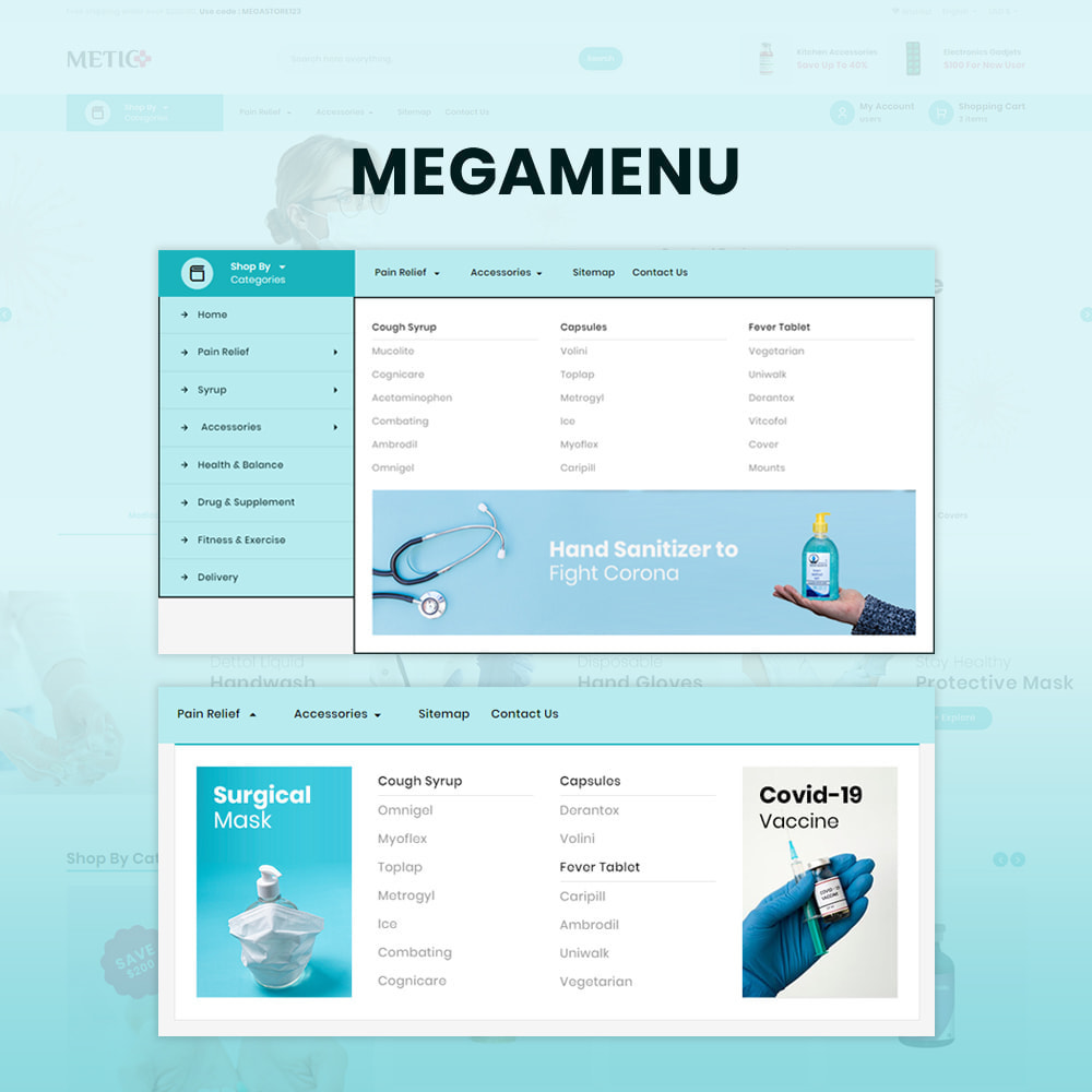 theme - Health & Beauty - Metic - Medical Supplies Store - 8