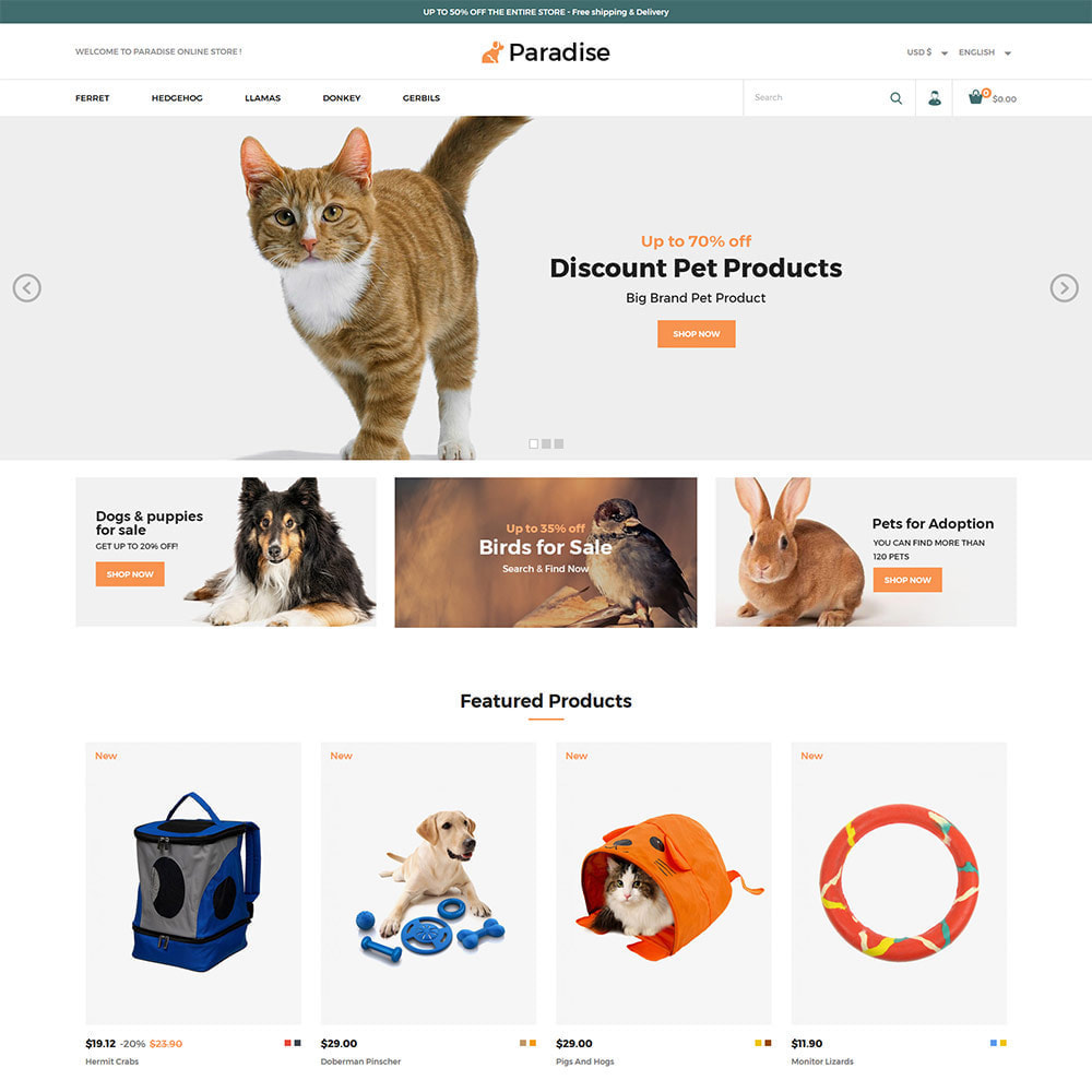 theme - Animals & Pets - Nutrition Animal  Pet Food -  Pet Store - 2