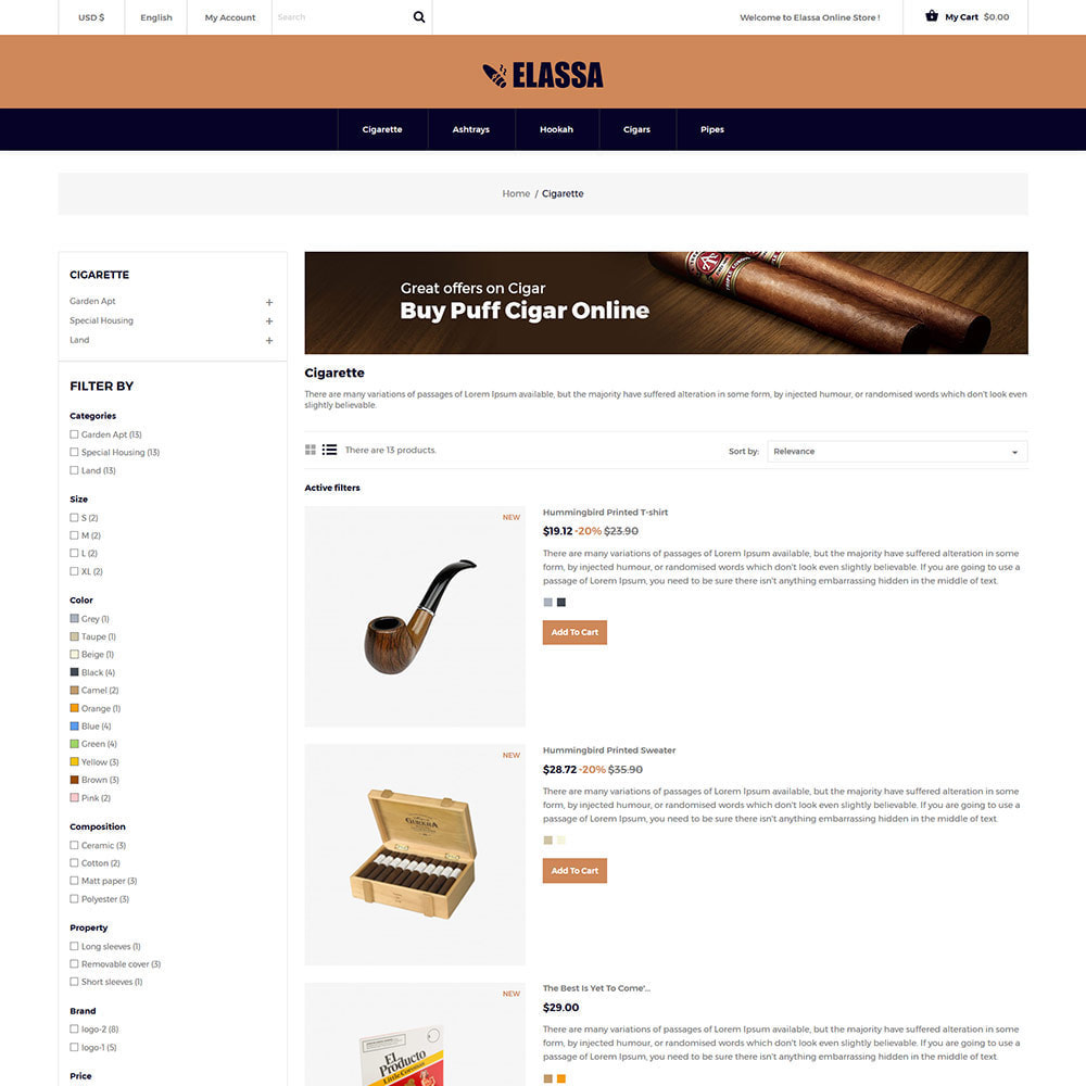 theme - Drink & Tobacco - Cigar Drink   Alcohol - Wine Tobacco  Store - 4