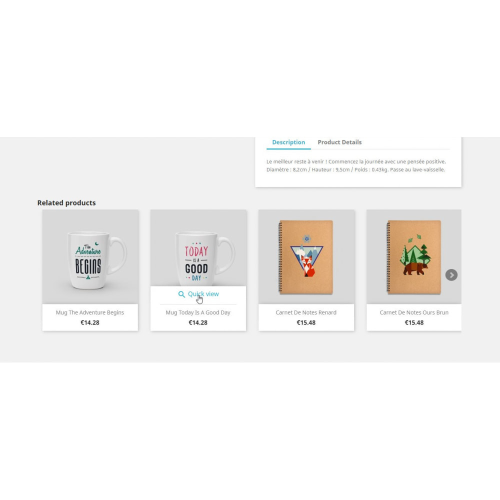 module - Ventas cruzadas y Packs de productos - Related Products by Product's Tags - 1