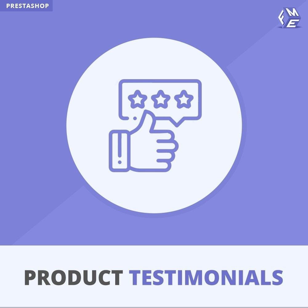 module - Klantbeoordelingen - Klant Productbeoordelingen + Getuigenissen van Winkels - 1