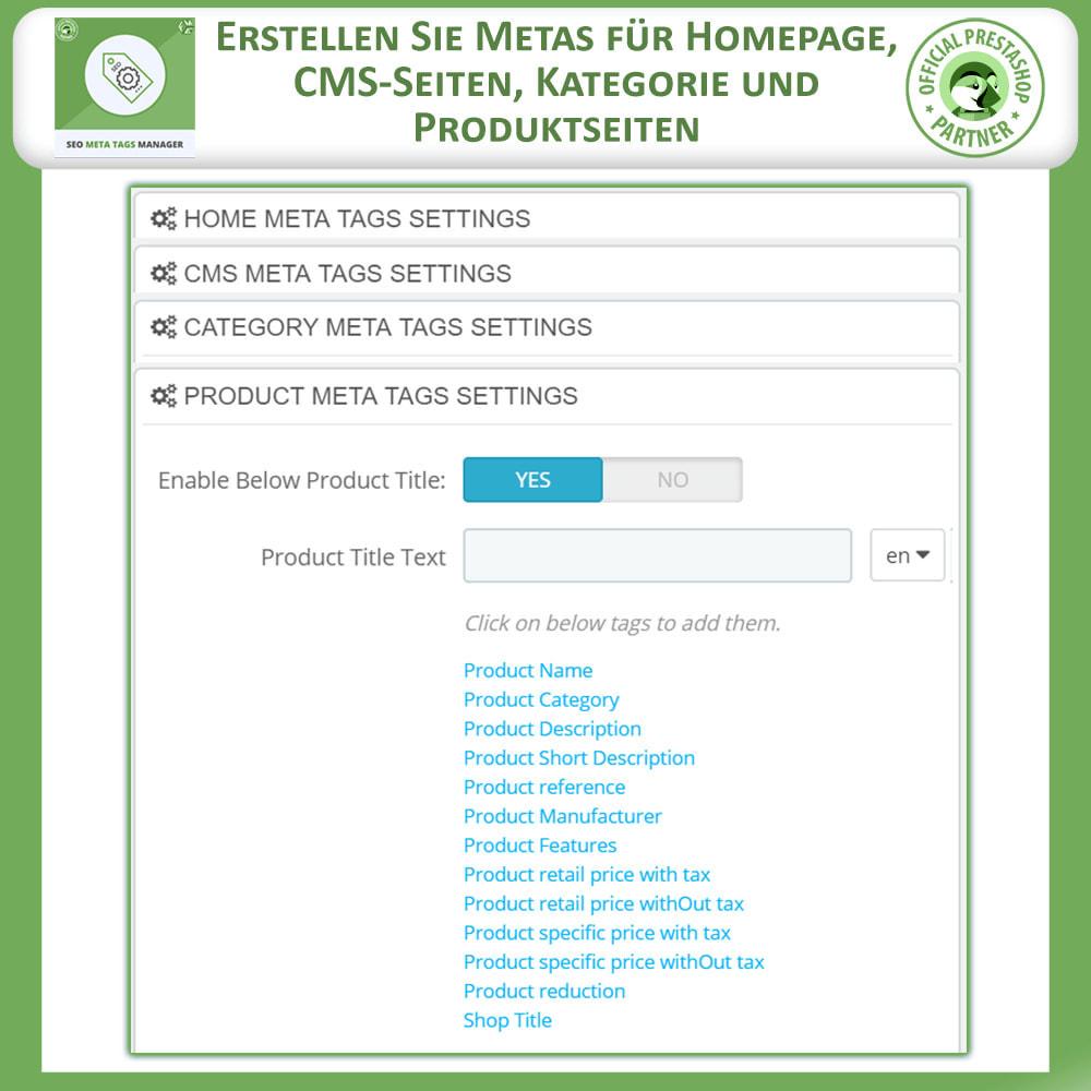module - SEO - Meta Tag Manager - 4