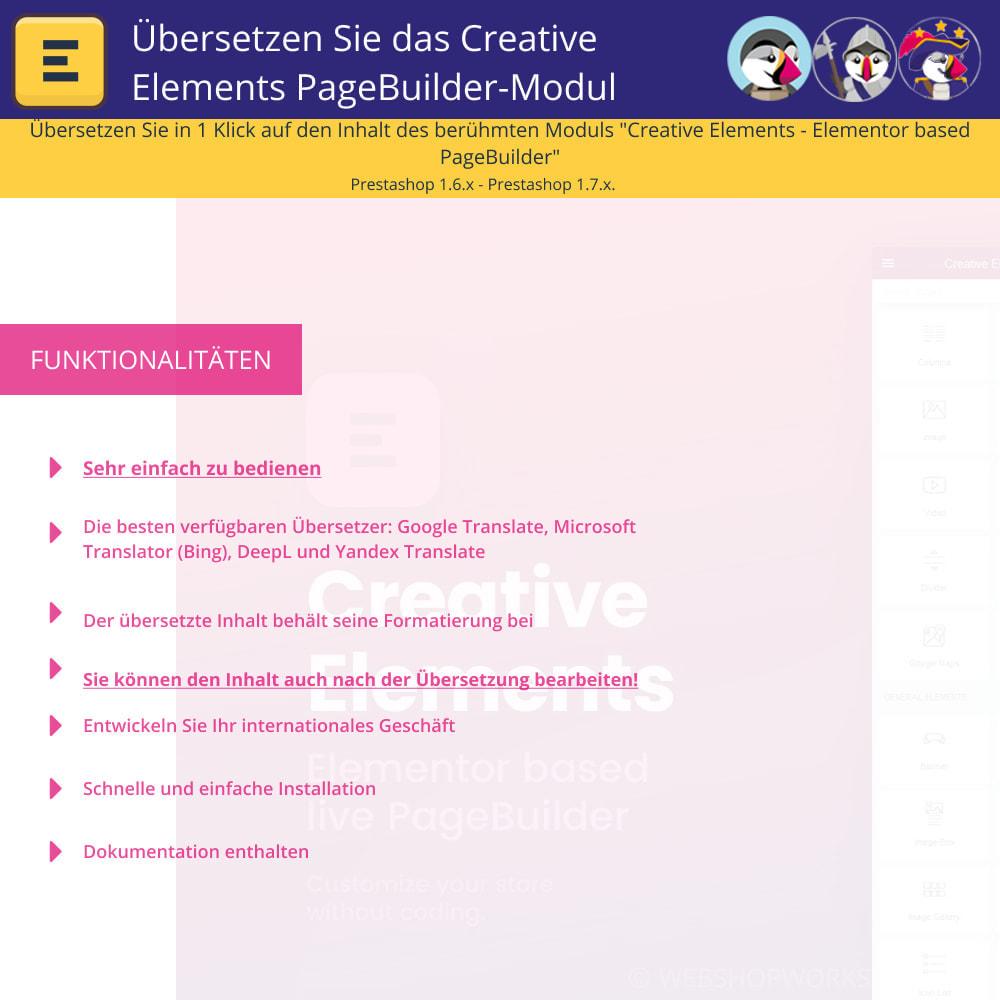 module - Internationalisierung & Lokalisierung - Übersetzen Sie den Creative Elements PageBuilder - 1