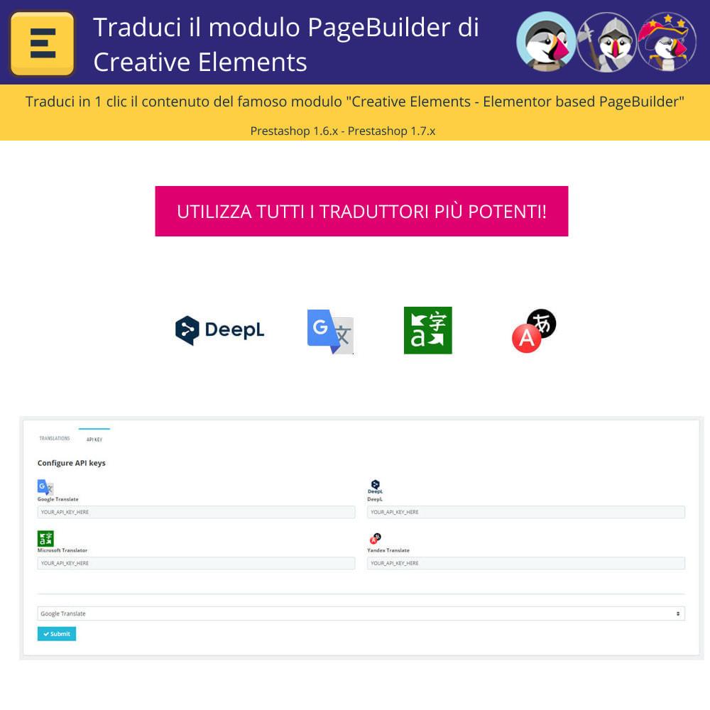 module - Lingue & Traduzioni - Tradurre il Elementi Creativi PageBuilder - 2