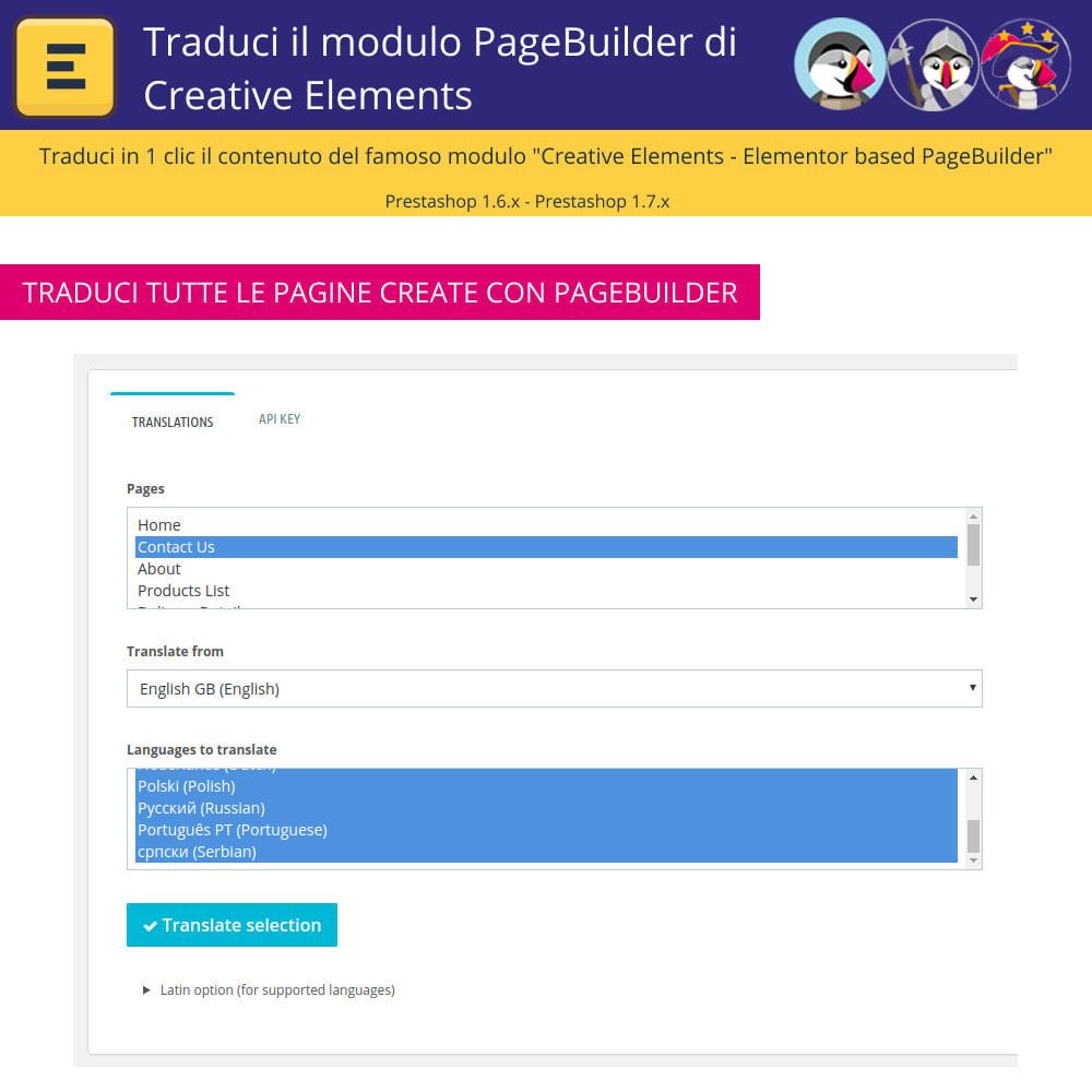 module - Lingue & Traduzioni - Tradurre il Elementi Creativi PageBuilder - 5