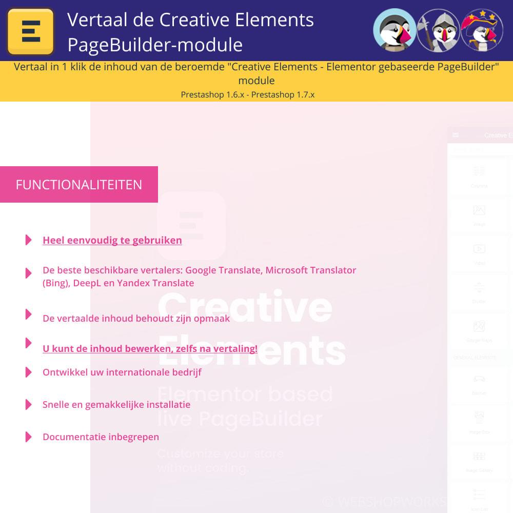 module - Internationaal & Lokalisatie - Translate The Creative Elements PageBuilder - 1