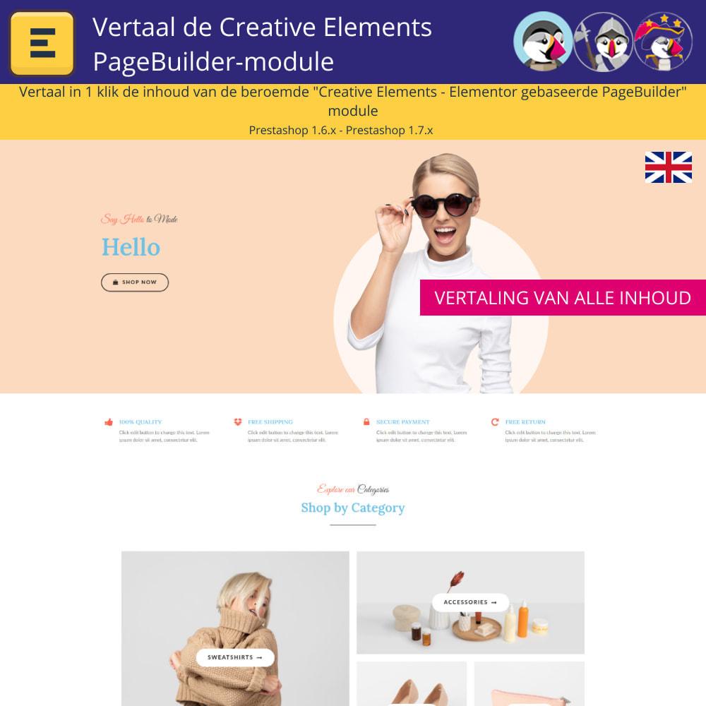 module - Internationaal & Lokalisatie - Translate The Creative Elements PageBuilder - 3