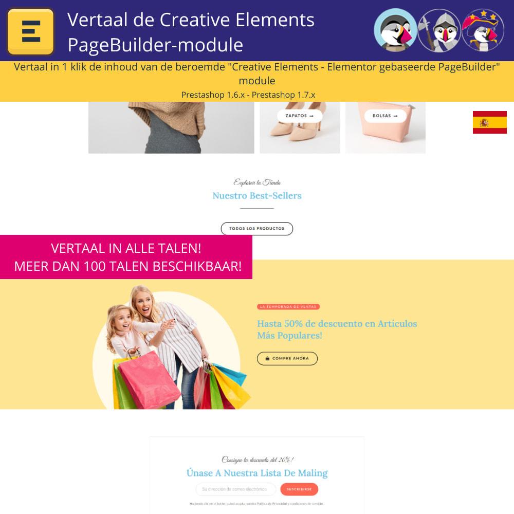 module - Internationaal & Lokalisatie - Translate The Creative Elements PageBuilder - 4